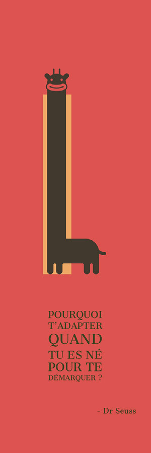 cartoon giraffe bookmarks Marque-page