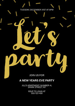 New Years Eve Party Let's Party A5 New Year