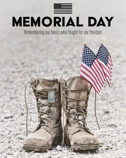 Memorial Day Boots Instagram Portrait