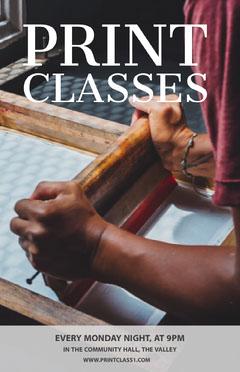 Print Classes Poster Crafts