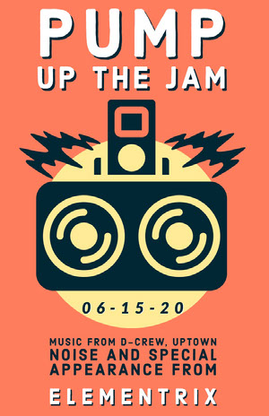 PUMP UP THE JAM  Konsertaffisch