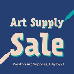 Blue Art Supply Sale Instagram Sale Art