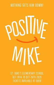 Orange Smile Positive School Play Poster School Posters