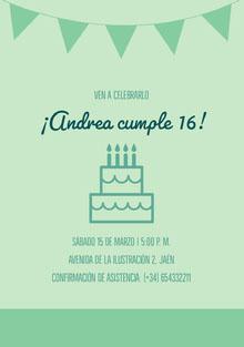 ¡Andrea cumple 16! Invitación