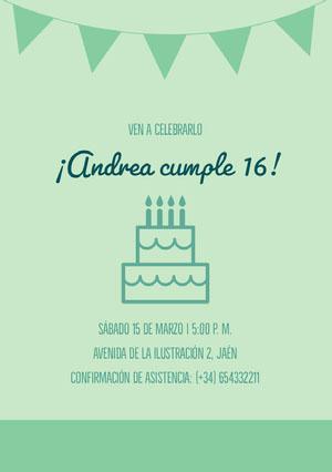 ¡Andrea cumple 16! Invitación de fiesta