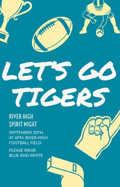 Spirit Night Poster  Sports