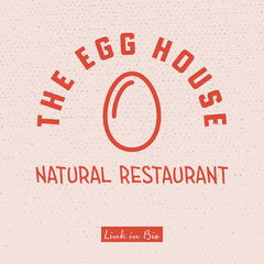 Red & Pink The Egg House Restaurant Instagram Square Wellness
