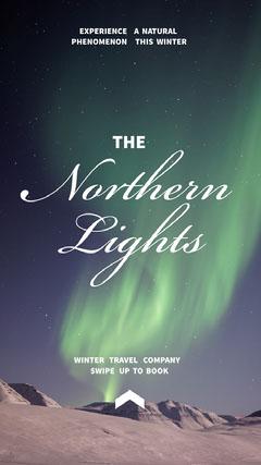 NorthernLights Instagramstory  Vacation