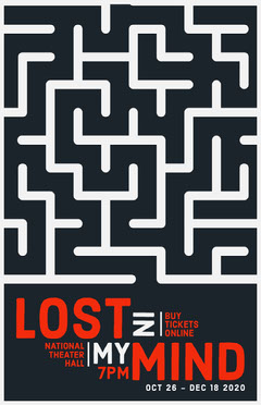 Red Lost Maze Theater Play Poster Play Poster