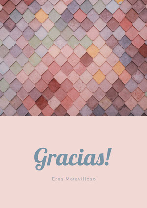 light pink and textured thank you cards  Tarjeta de agradecimiento