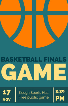 basketball finals game poster Sports