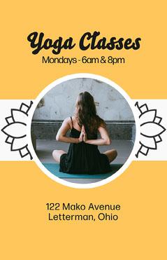 Yoga Classes Flyer Instagram Flyer