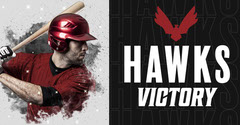 Red Black Hawks Victory Baseball Facebook Post Sports
