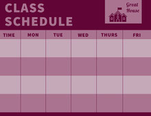 Purple and Pink Weekly School Class Schedule Aikataulu