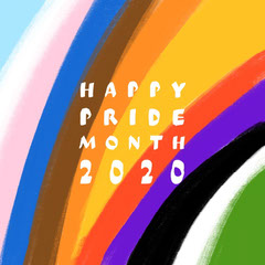 Painted Colorful Celebratory Pride Month Card Rainbow