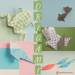 Pastel Colored Origami Papercraft Course Square Instagram Graphic Crafts
