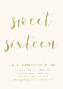 sweet <BR>sixteen