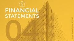 Yellow Modern Geometric Bank Financial Report Graphic Finance