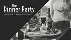 Black & White Dinner Scene Blog Banner Party