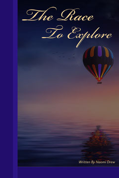 Navy Blue The Race To Explore Book Cover Balloon