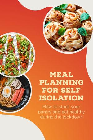 Orange Meal Planning Self Isolation Pinterest  Instagram Stories