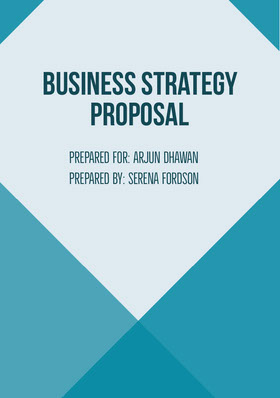 Blue  Business Strategy Proposal Forslag