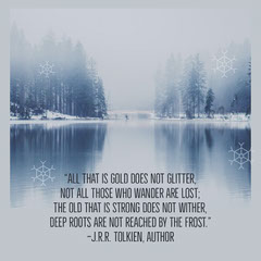 Tolkien Quote Instagram Square Winter