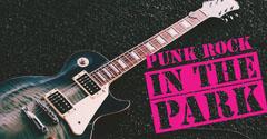 Pink and Black Punk Rock Event Facebook Cover Rock Concert
