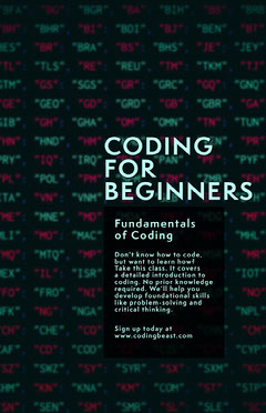 coding for beginners poster Teacher