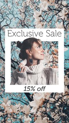 Blue and Pink Sakura Tree Sale Instagram Story Promotion