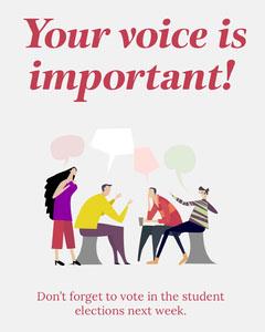 Illustrated Student Election Reminder Instagram Portrait  Election