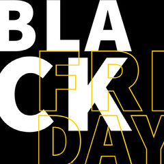 Black, White and Yellow Black Friday Ad Instagram Post Thanksgiving Sale