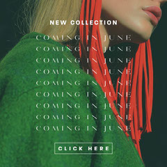 Green, Red, Animated, Fashion New Colletion Ad, Instagram Square New Collection