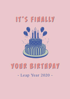 leap year birthday card Cakes