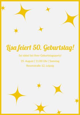 Lisa feiert 50. Geburtstag!  Einladung zum Geburtstag