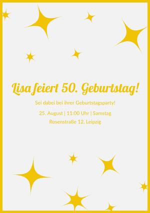 Lisa feiert 50. Geburtstag!  E-Mail-Einladung