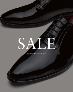grey and black shoe sale instagram portrait  Shoes
