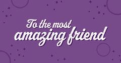Purple Circles & Stars Friend Facebook Post Friends