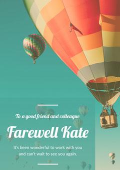 farewellcard Balloon