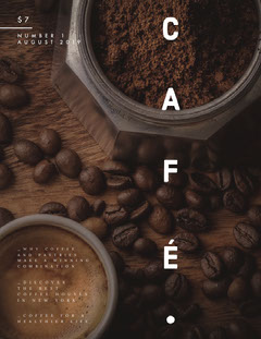 Coffee café magazine cover Cafe