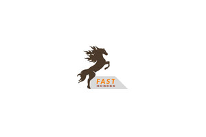 Business Brand Logo with Horse 라벨