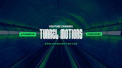 Tunnel Motions Neon Green YouTube Channel Art Neon