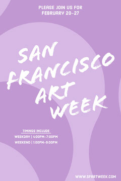 SF art week Pinterest advertisement  Purple