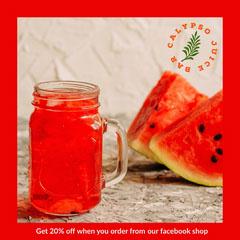 Red Border Watermelon Juice Bar Instagram Square Ad Border