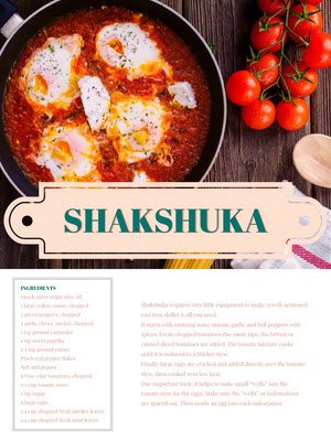 Shakshuka Recipe Card 조리법 카드