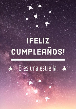 you're a star birthday cards  Tarjeta