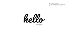 Black and White Professional Business Card Hello