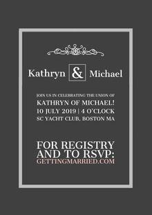 & Convite de casamento