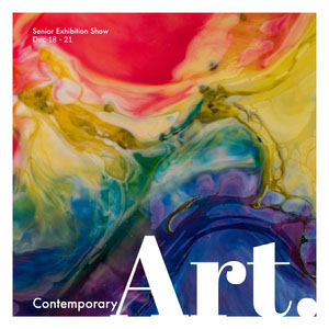 Colorful Art Exhibition Ad Instagram Post Anzeigenschilder