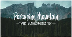 Porcupine Mountain Hiking Trails Travel and Tourism Facebook Post Graphic Nature